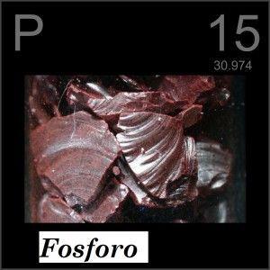Símbolo químico del fósforo